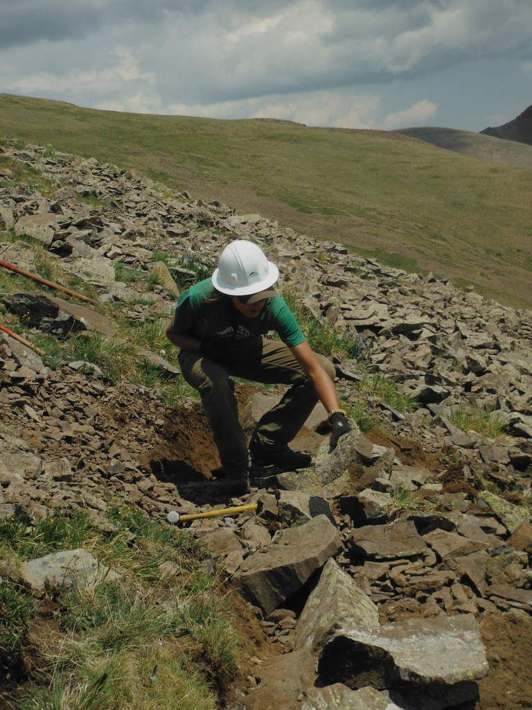 04 Me building a rock wall before getting chased off by lightning