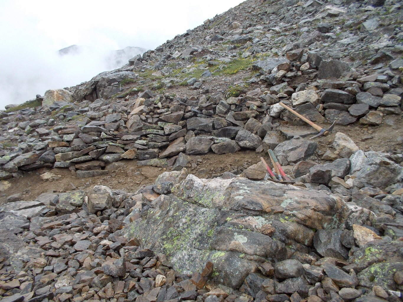 Grays Peak trail after Bold Earth helped us put a Backwall and Rock disguise in.