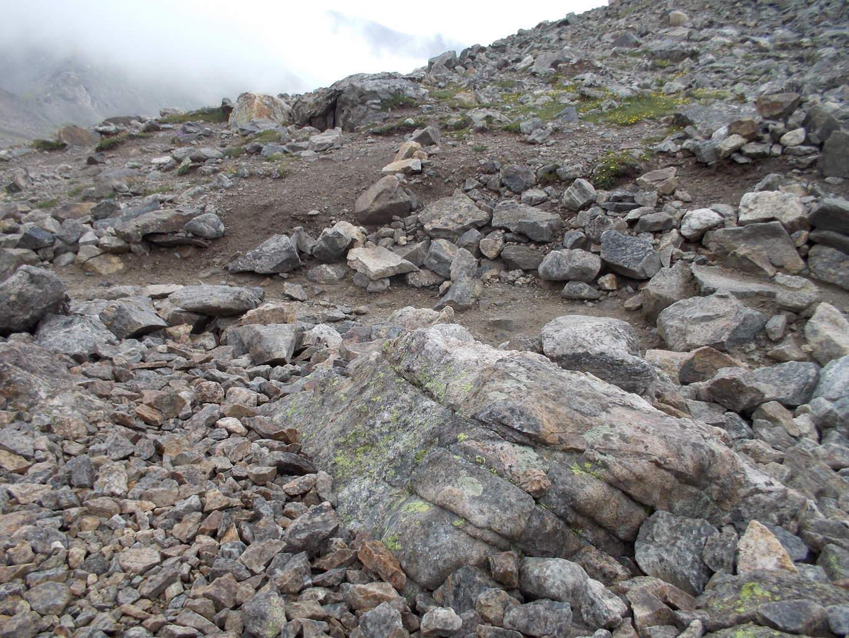 Some human caused erosion on Grays Peak.