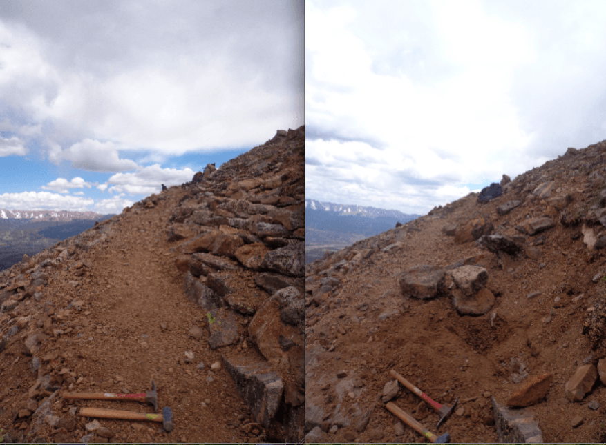 mt elbert before and after